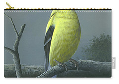 Carry-all Pouch featuring the painting American Goldfinch by Mike Brown