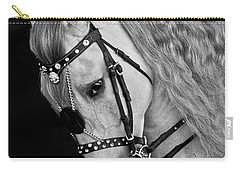 Carry-all Pouch featuring the photograph Andalusian D9098 by Wes and Dotty Weber