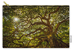 Carry-all Pouch featuring the photograph Angel Oak by Serge Skiba