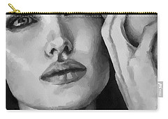 Angelina Jolie Black And Whire Carry-all Pouch
