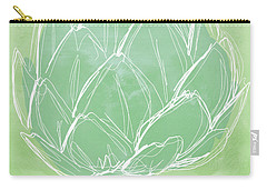 Artichoke Carry-all Pouch by Linda Woods