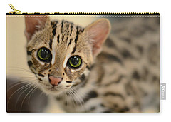 Asian Leopard Cub Carry-all Pouch by Laura Fasulo
