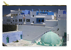 Carry-all Pouch featuring the photograph Asilah Meaning Authentic In Arabic Fortified Town On Northwest Tip Of Atlantic Coast Of Morocco by Ralph A  Ledergerber-Photography