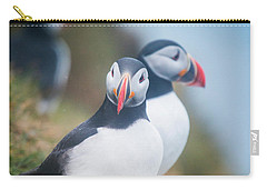 Atlantic Puffins Fratercula Arctica Carry-all Pouch by Panoramic Images
