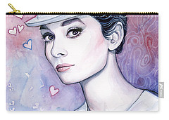 Audrey Hepburn Fashion Watercolor Carry-all Pouch