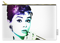 Audrey Hepburn Carry-all Pouch by Marianna Mills