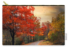 Carry-all Pouch featuring the photograph Autumn Maples by Jessica Jenney