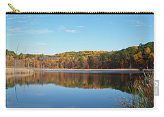Carry-all Pouch featuring the photograph Autumn Pond by Aimee L Maher Photography and Art Visit ALMGallerydotcom