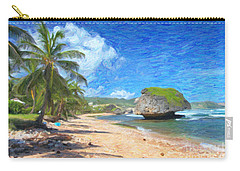 Bathsheba Beach In Barbados Carry-all Pouch