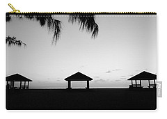 Carry-all Pouch featuring the photograph Beach Huts by Amar Sheow