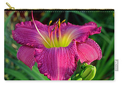Carry-all Pouch featuring the photograph Bela Lugosi Daylily by Suzanne Stout