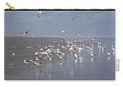 Birds At The Beach Carry-all Pouch
