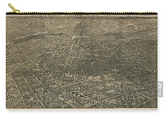 Birdseye Map Of Denver Colorado - 1887 Carry-all Pouch by Eric Glaser