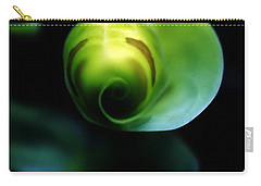 Carry-all Pouch featuring the photograph Birth Of A Leaf by Lilliana Mendez