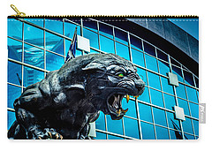 Black Panther Statue Carry-all Pouch by Alex Grichenko