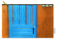 Blue Door In Santa Fe Carry-all Pouch