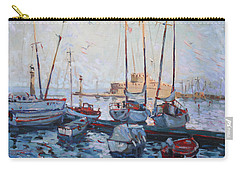 Boats In Rhodes Greece  Carry-all Pouch