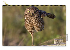Burrowing Owl Photograph Carry-all Pouch by Meg Rousher