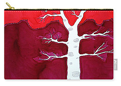 Canyon Tree Original Painting Carry-all Pouch by Sol Luckman