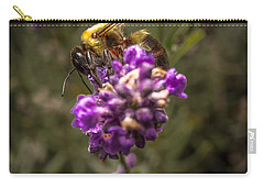 Carpenter Bee On A Lavender Spike Carry-all Pouch