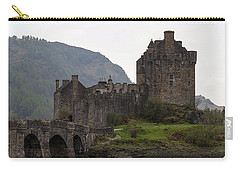 Cartoon - Structure Of The Eilean Donan Castle With A Stone Bridge Carry-all Pouch by Ashish Agarwal