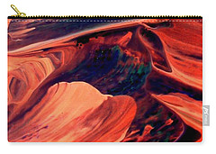 Carry-all Pouch featuring the painting Catalyst by Jacqueline McReynolds