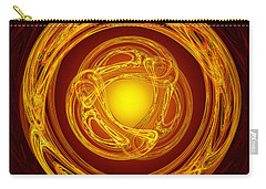 Celtic Abstract On Red Carry-all Pouch by Jane McIlroy