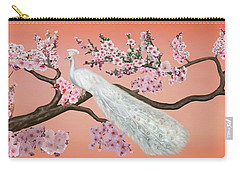 Cherry Blossom Peacock Carry-all Pouch