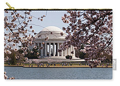 Cherry Blossom Trees In The Tidal Basin Carry-all Pouch by Panoramic Images
