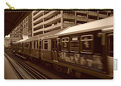 Carry-all Pouch featuring the photograph Chicago Cta by Miguel Winterpacht