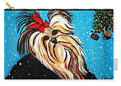 Carry-all Pouch featuring the painting Christmas Card by Nora Shepley