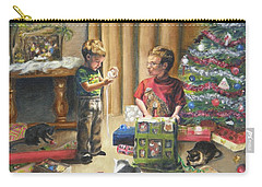 Carry-all Pouch featuring the painting Christmas Time by Lori Brackett