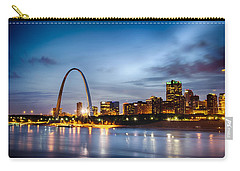 City Of St. Louis Skyline. Image Of St. Louis Downtown With Gate Carry-all Pouch