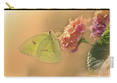 Clouded Sulphur Butterfly Carry-all Pouch by Betty LaRue