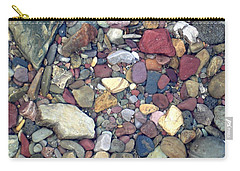 Colorful Lake Rocks Carry-all Pouch by Kerri Mortenson