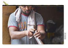 Carry-all Pouch featuring the photograph Cooking Breakfast Early Morning Lahore Pakistan by Imran Ahmed
