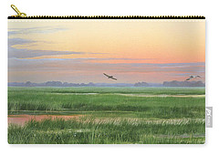 Carry-all Pouch featuring the painting Divine Whisper by Mike Brown
