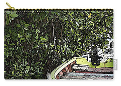Carry-all Pouch featuring the photograph Docked By The Mangrove Trees by Lilliana Mendez