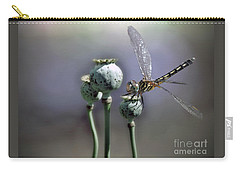 Carry-all Pouch featuring the photograph Dragonfly by Savannah Gibbs