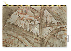 Drawing Of An Imaginary Prison Carry-all Pouch by Giovanni Battista Piranesi
