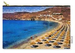 Elia Beach In Mykonos Island Carry-all Pouch
