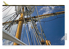 Carry-all Pouch featuring the photograph Elizabeth II Mast Rigging by Greg Reed
