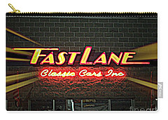 Fast Lane In Lights Carry-all Pouch by Kelly Awad