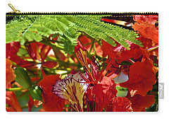 Carry-all Pouch featuring the photograph Flamboyan by Lilliana Mendez
