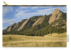 Flatirons With Golden Grass Boulder Colorado Carry-all Pouch