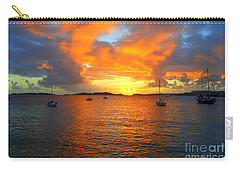 Frank Bay St. John U. S. Virgin Islands Sunset Carry-all Pouch