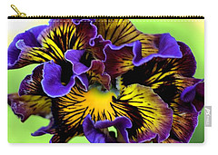Frilly Pansy Carry-all Pouch by Joy Watson