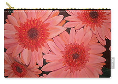 Carry-all Pouch featuring the painting Gerber Daisies by Sharon Duguay