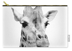 Giraffe On White Background  Carry-all Pouch