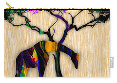 Giraffe Painting Carry-all Pouch